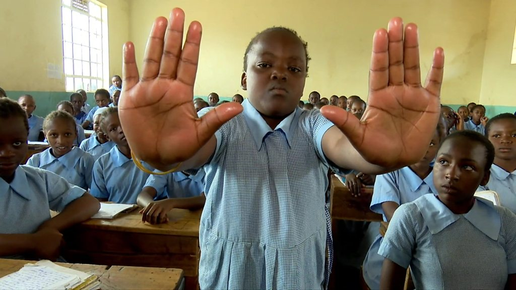 Why Kenyan school children are being taught to say 'no', loudly