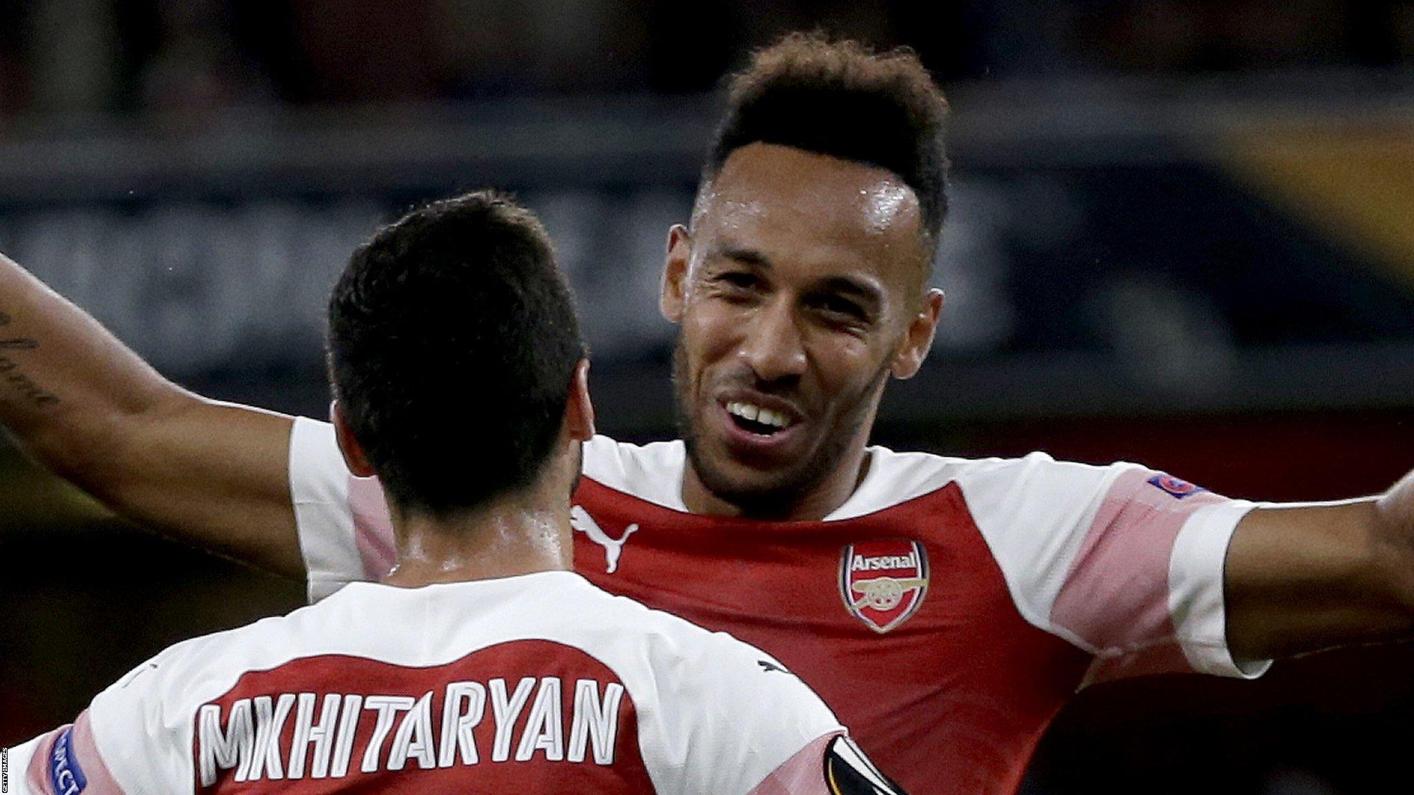 Arsenal 4-2 Vorskla Poltava: Gunners cruise to Europa League win