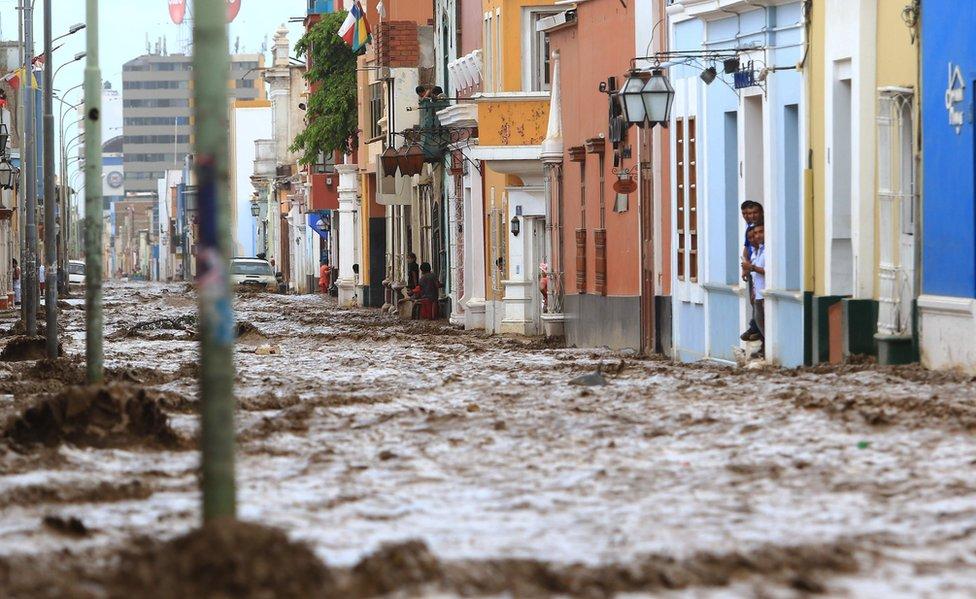 Trujillo inundada.
