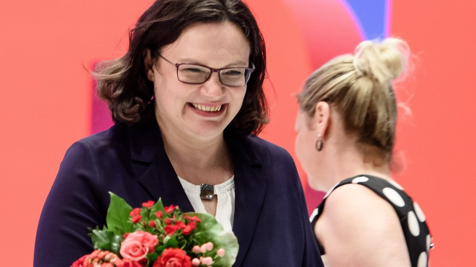 Andrea Nahles: First woman to lead Germany's social democrats | BBC