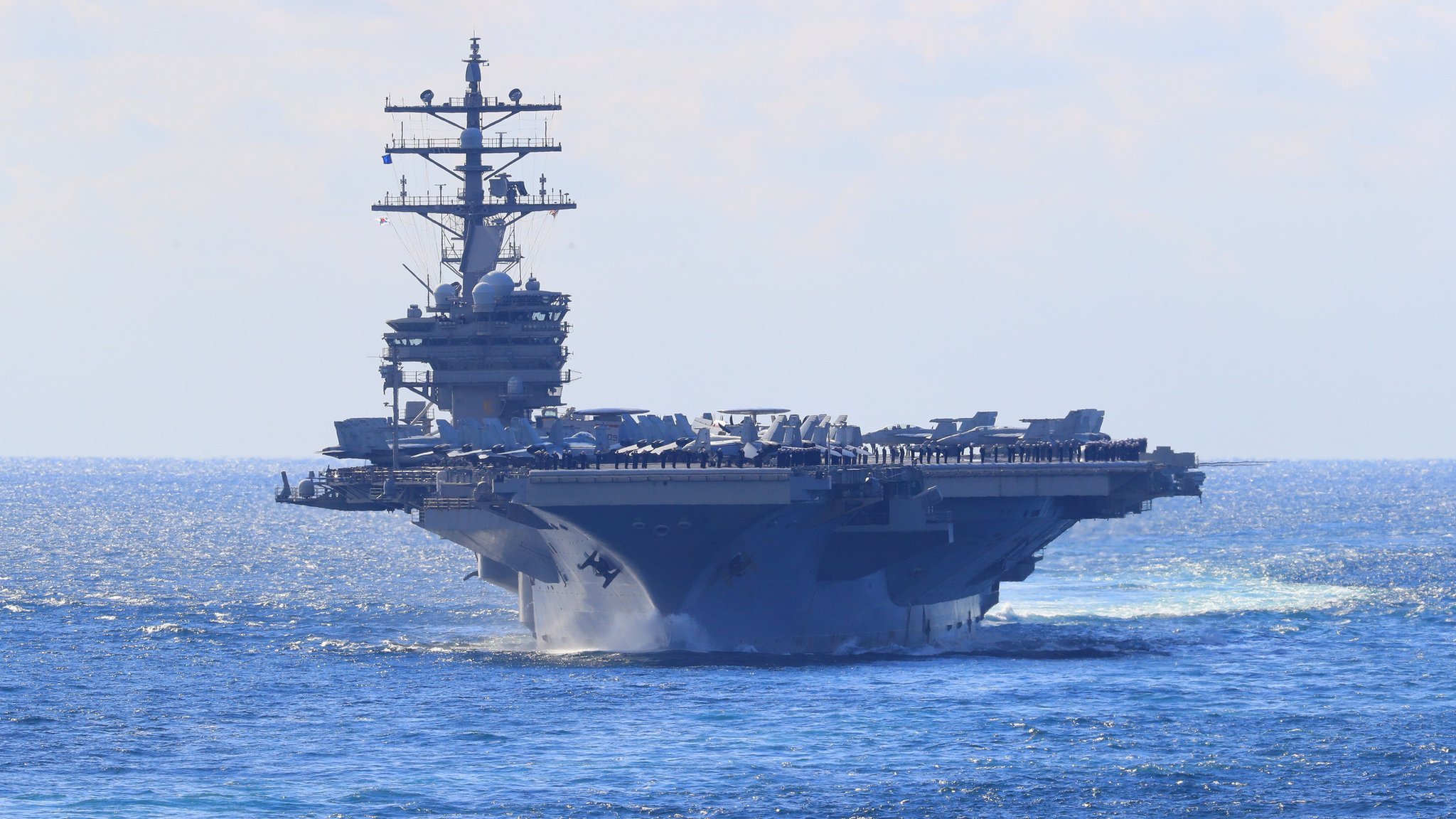 US fighter jet crashes into sea off Japan | BBC