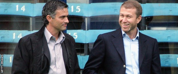 Jose Mourinho and Roman Abramovich