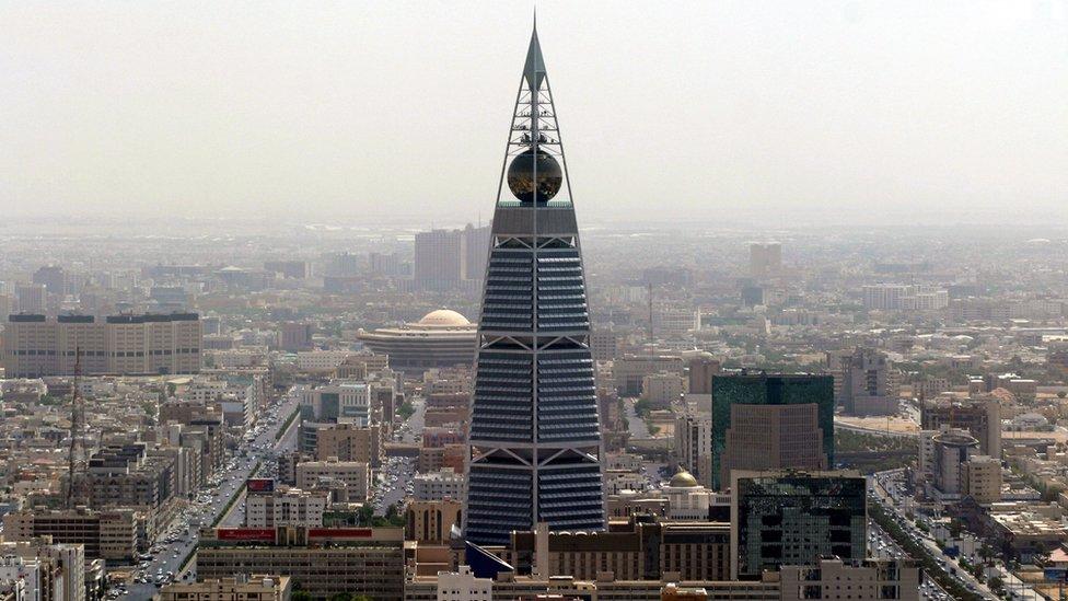 Vista de la capital árabe Riad