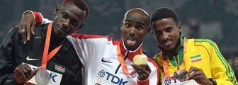 Caleb Ndiku, Mo Farah and Hagos Gebrhiwet