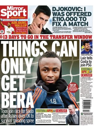 The Mirror backpage
