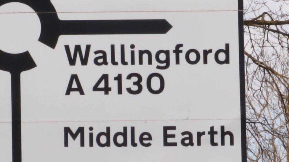 Didcot signs point to Narnia, Gotham City and Middle Earth