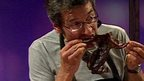 George Monbiot eating a squirrel