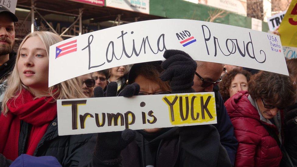 Protesta de Womens March en Nueva York