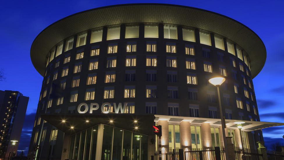 El cuartel general de la OPCW