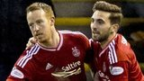 Adam Rooney (left) and Graeme Shinnie