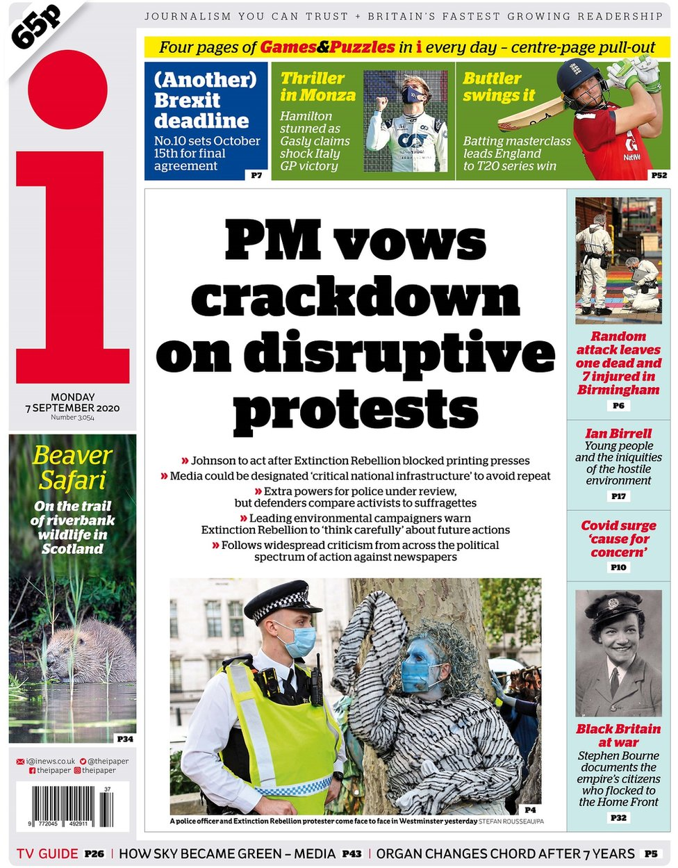 The i front page, 7/9/20