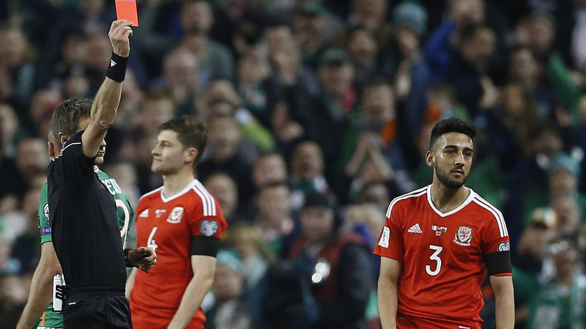 Republic held to goalless draw by 10-man Wales