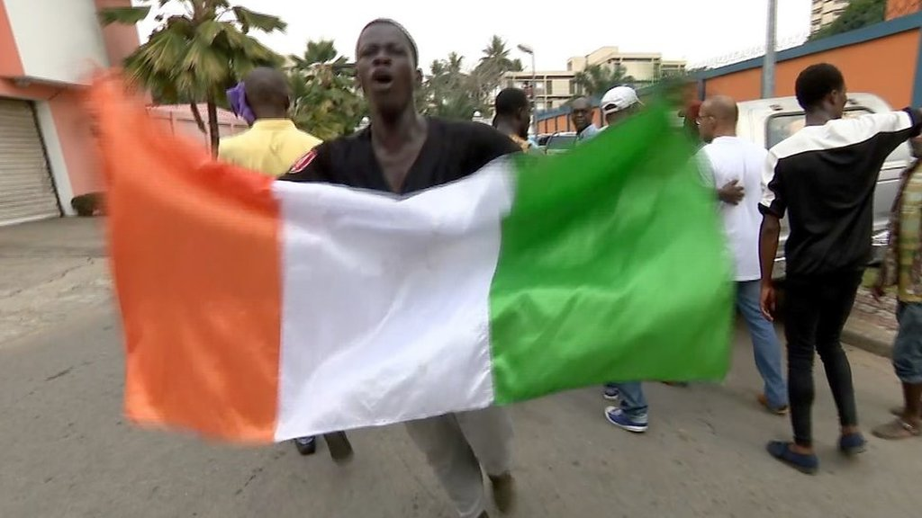 Crowds react to Ivory Coast's ex-President Laurent Gbagbo's release