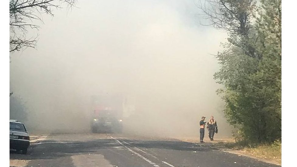Пожар под Кременчугом: дачникам советуют выезжать