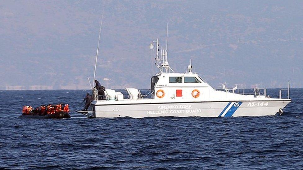 Children drown as migrant boat sinks