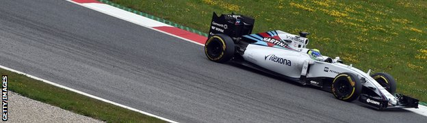 Felipe Massa at the Austrian Grand Prix