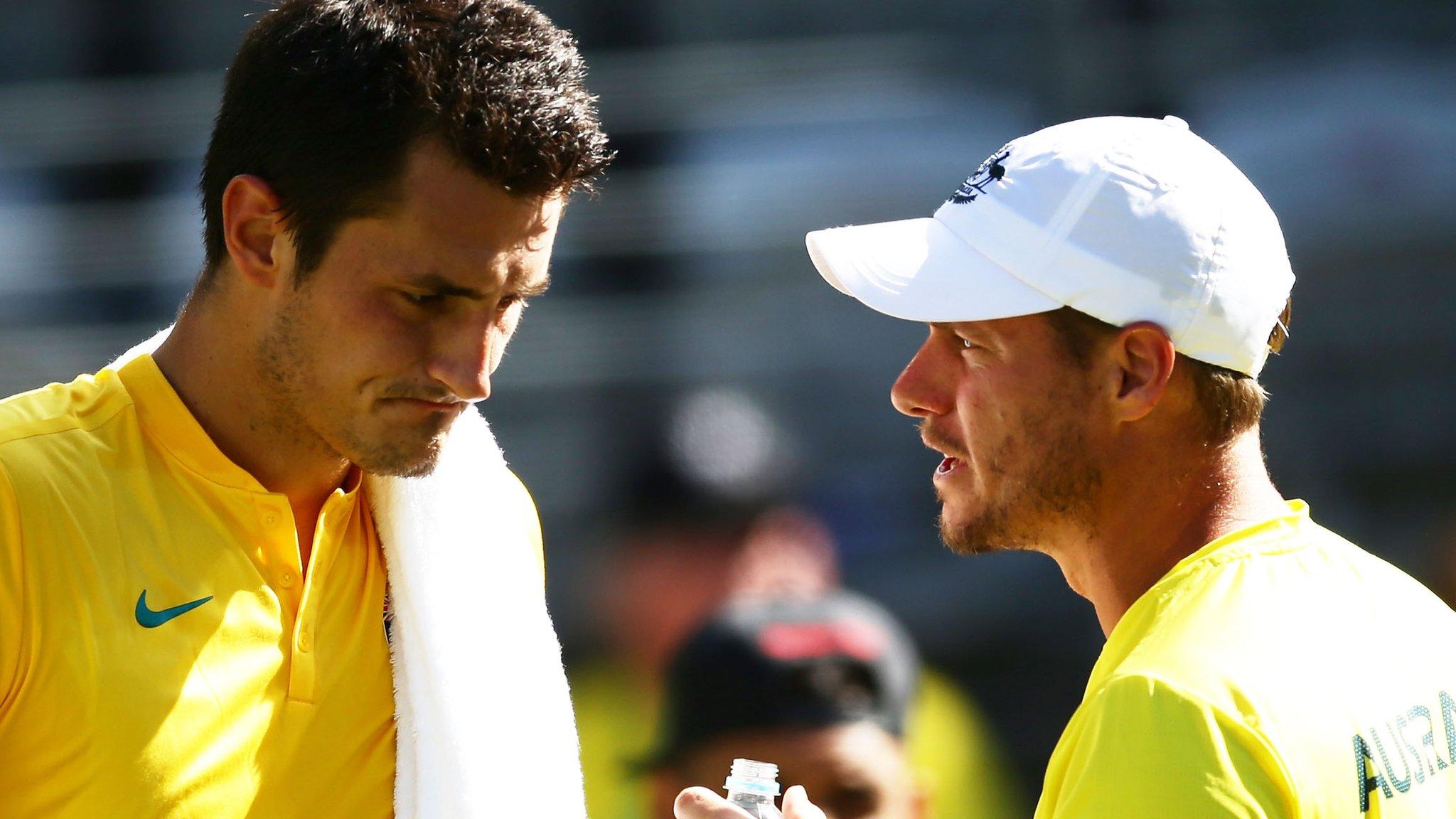 Bernard Tomic calls Lleyton Hewitt 'liar' over claims he threatened Davis Cup captain