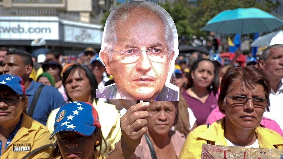 Manifestación a favor de Antonio Ledezma.