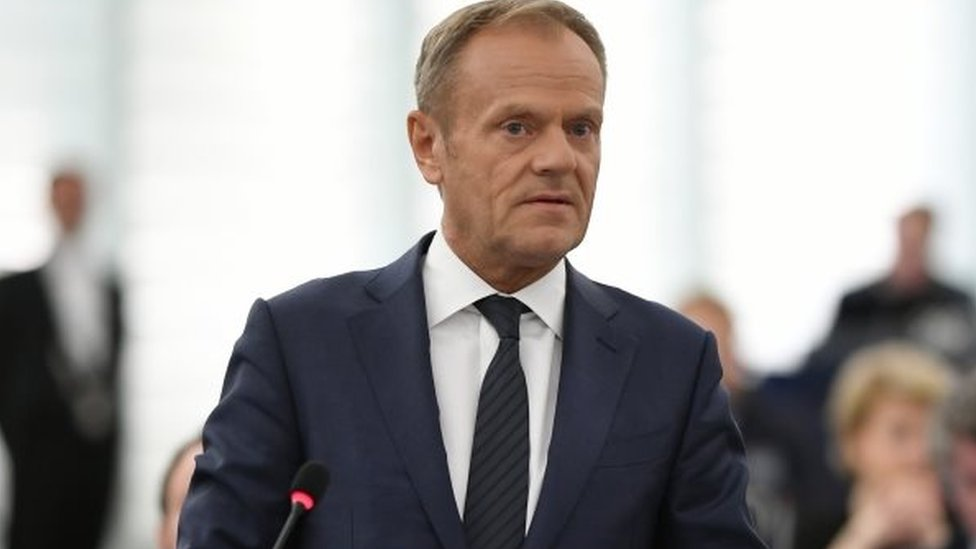 Brexit: Tusk says UK MEPs could sit for 'months or longer'