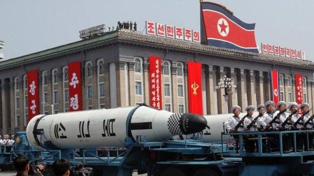 Desfile militar en Corea del Norte