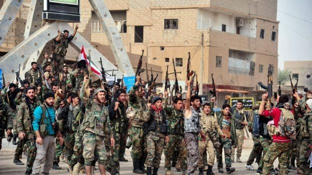 قوات الحكومة السورية وأخرى موالية لها