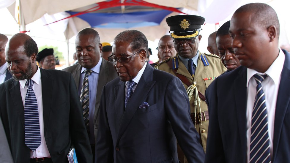 Zimbabwe latest: Mugabe makes first public appearance