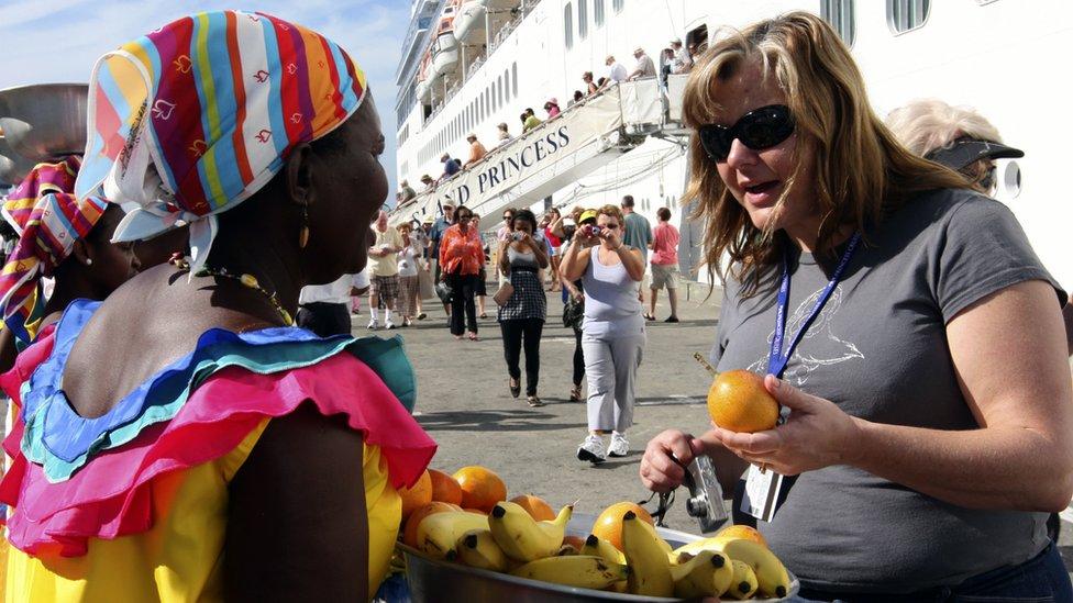 Turista en Cartagena