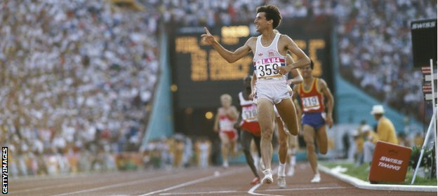 Coe defended his 1500m crown at the 1984 Games in Los Angeles