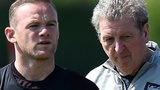 England's Wayne Rooney and Roy Hodgson
