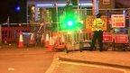 Scene of bus crash in Coventry