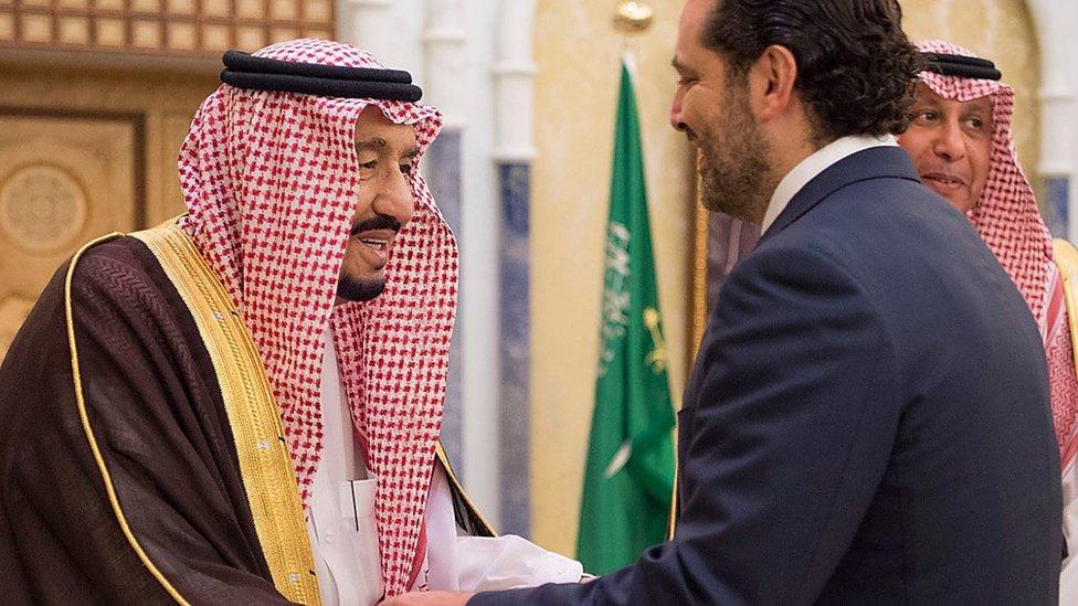 El rey Salman y Saad Hariri