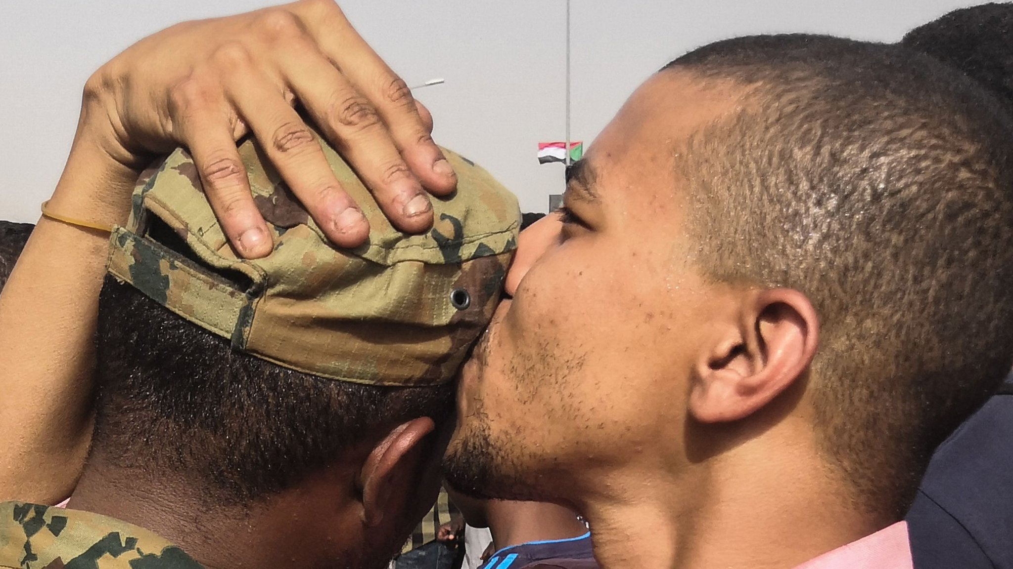 Kissing soldiers and rolling joints