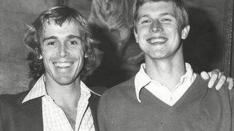 John Lloyd and Buster Mottram in October 1978