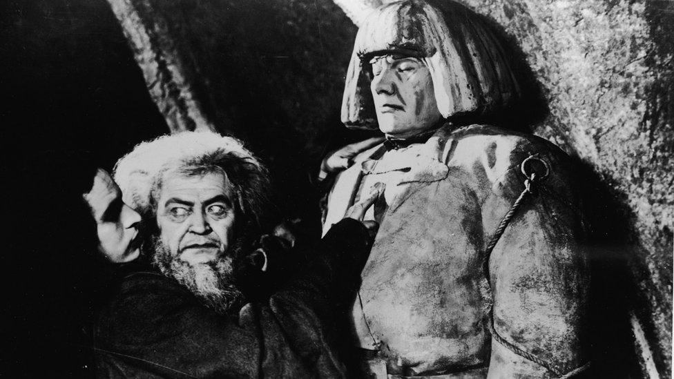 Scene from 1915 film The Golem