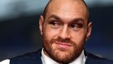 Tyson Fury at a news conference in Bolton