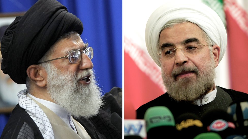 Iran's Supreme leader and the president
