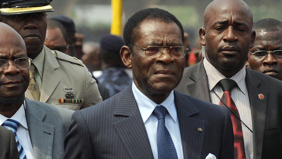 Equatorial Guinea's President Obiang Nguema