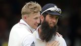 Joe Root (left) and Moeen Ali