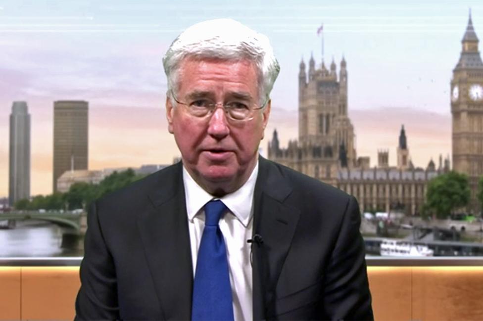 Michael Fallon, secretario de Defensa de Reino Unido