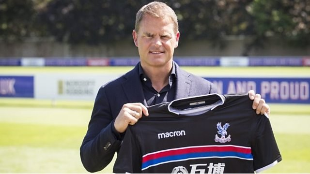 Frank de Boer: Crystal Palace manager wants to play 'attractive' football