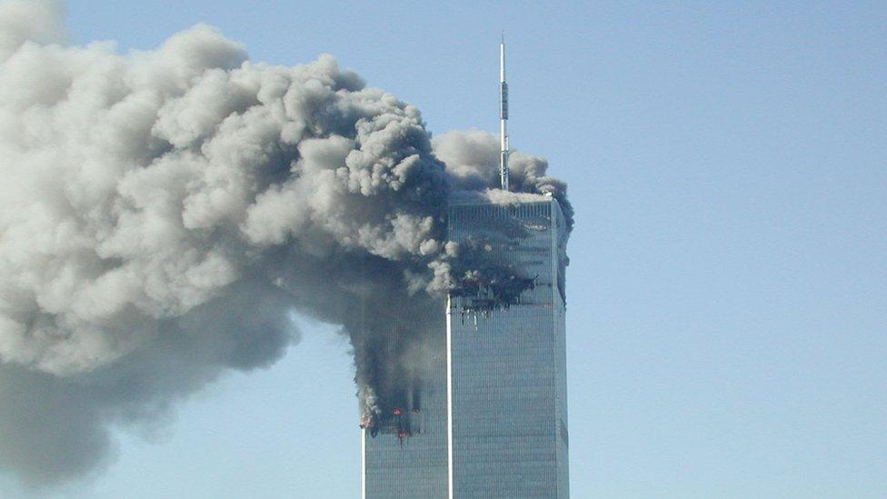 Ataque contra las torres gemelas de Nueva York.