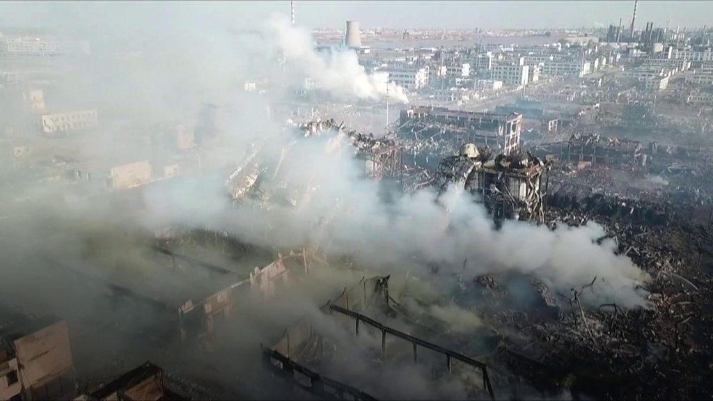 China chemical plant explosion: 'The blast smashed it all'
