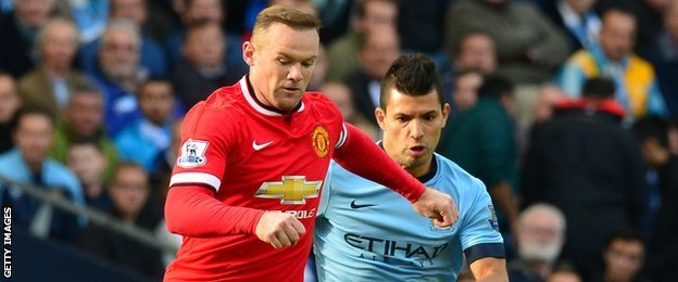 Wayne Rooney and Sergio Aguero