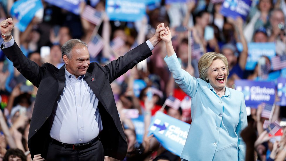 Hillary Clinton running mate Tim Kaine battles Trump with optimism