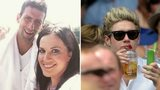 Abby Rose, Novak Djokovic and Niall Horan