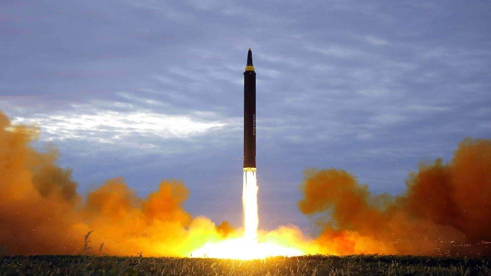 Misil lanzado en Corea del Norte.