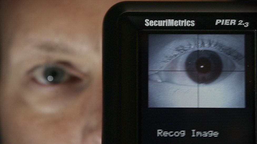 Un ojo siendo reconocido por una máquina