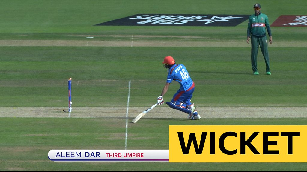 Cricket World Cup: Afghanistan's Mushfiqur Rahim falls to poor run out against Bangladesh