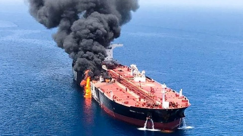 Gulf of Oman: Saudi Arabia blames tanker attacks on rival Iran