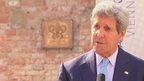 US Secretary of State John Kerry at a news conference on Iran nuclear talks